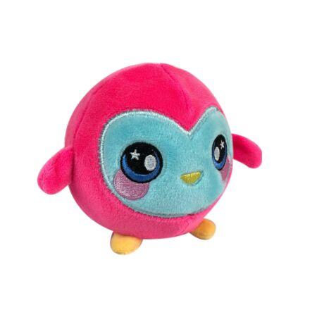 Squeezamals memóriahabos plüss figura 9 cm-es, pink pingvin