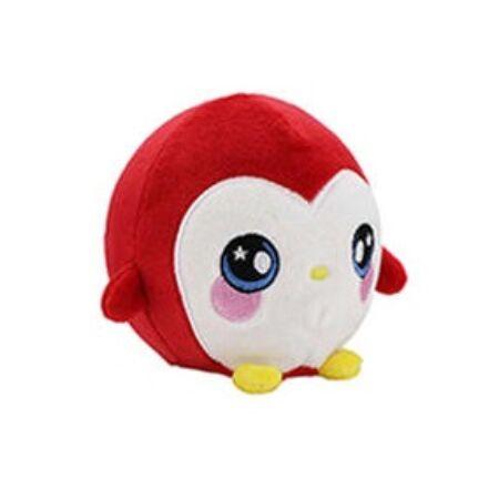 Squeezamals S2 memóriahabos plüss figura 9 cm-es, piros pingvin