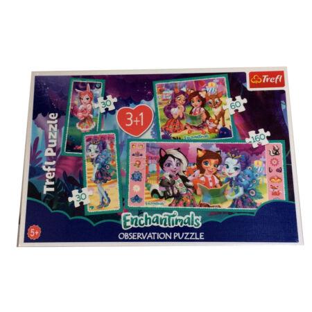 4 az 1-ben puzzle - Enchantimals - Trefl