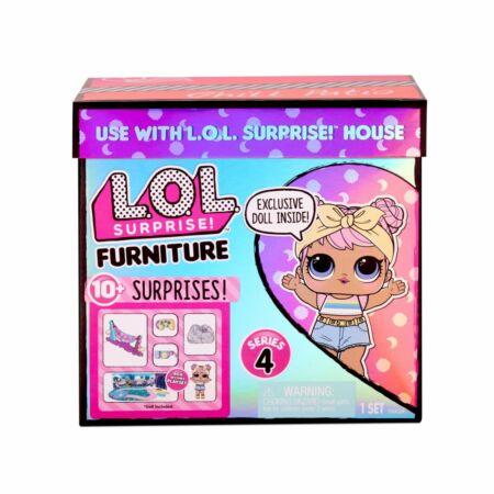 LOL Suprise Furniture S4 - Dawn Doll függőágya játékszett (Chill Patio)