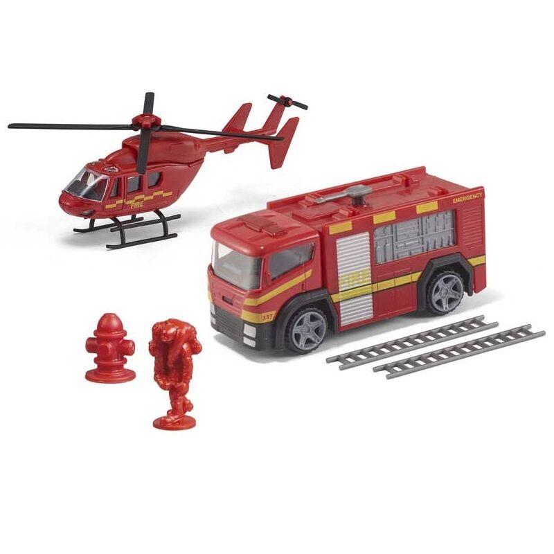 Sürgősségi tűzoltó autó és helikopter (Teamsterz Emergency Team)