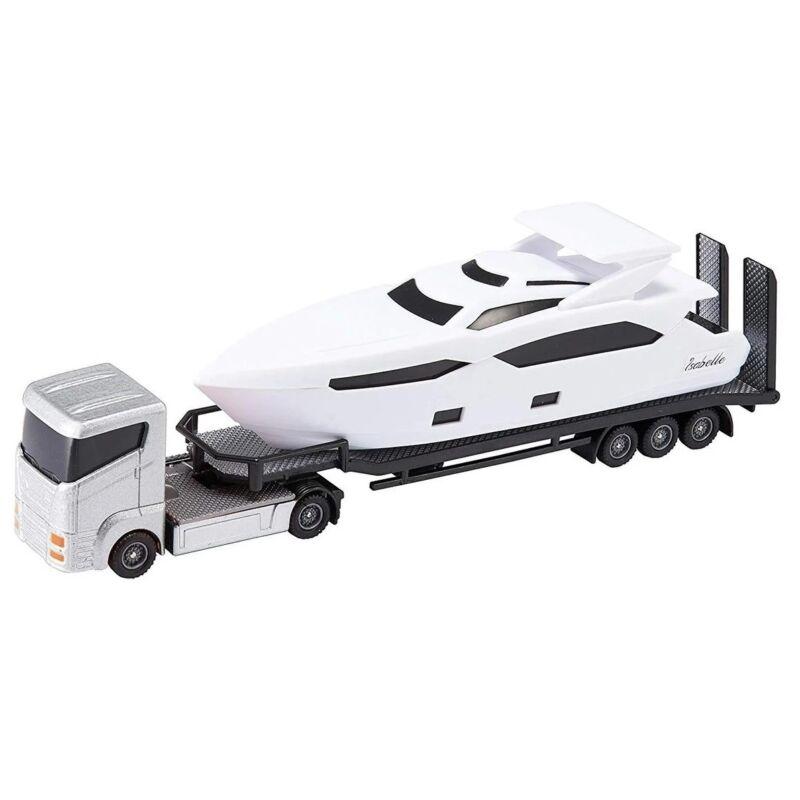 Ezüst hajószállító kamion óceánjáróval (Teamsterz Sea Cruiser Transporter)