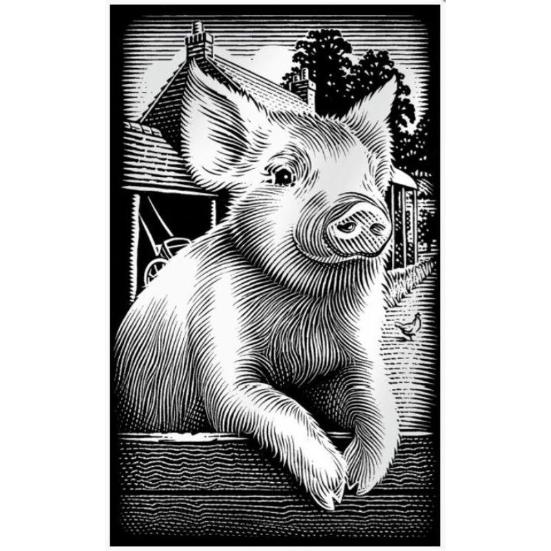 Reeves ezüst mini képkarcoló - Röfi