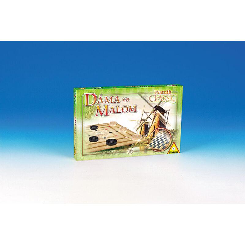 Classic Dáma és malom társasjáték