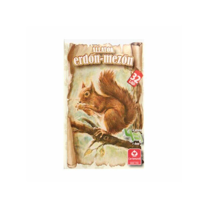 4 az 1-ben kártya - Állatok erdőn mezőn