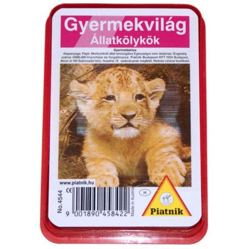 Állatkölykök kártyajáték