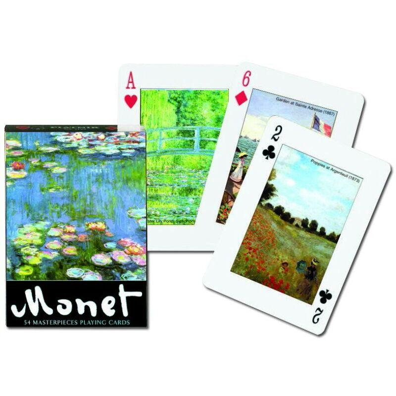 Monet festmények römi kártya 55 lapos - Piatnik