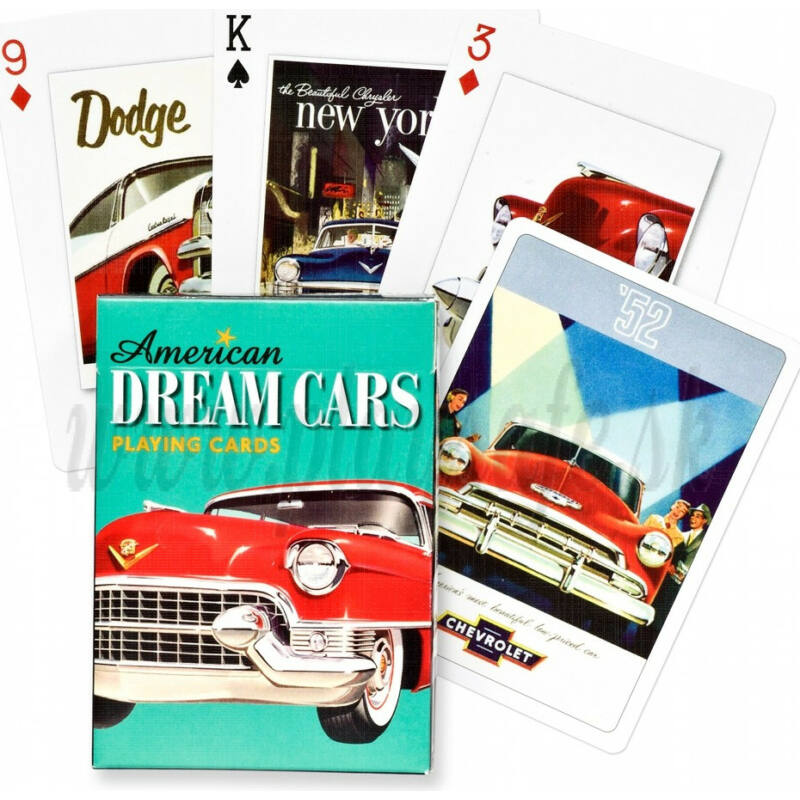 Amerikai álomautók 1x55 lapos römi kártya