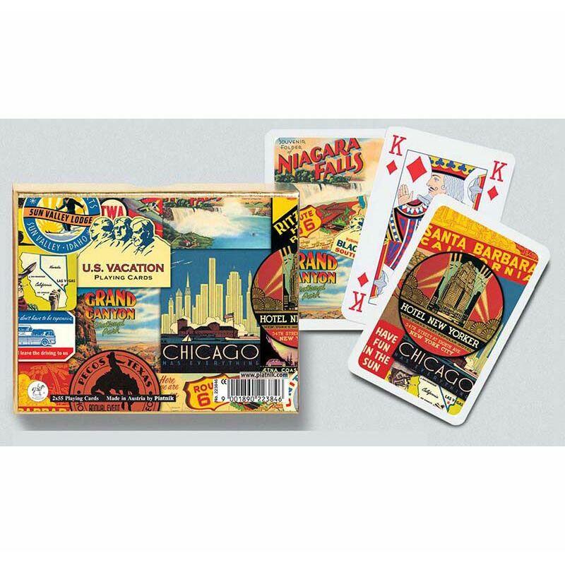 U.S. Vacation luxus römi kártya 2x55 lap - Piatnik