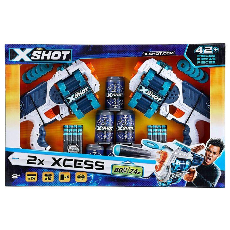 Xshot Forgótáras pisztoly 6 doboz - 10 korong - 24 nyíl