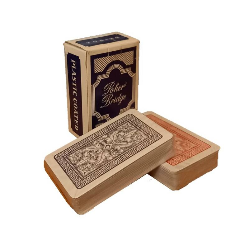 Póker és Bridge kártya 2x55 lap kék/piros, plasztik bevonat