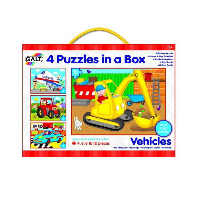 Galt - járművek 4 puzzle egy dobozban