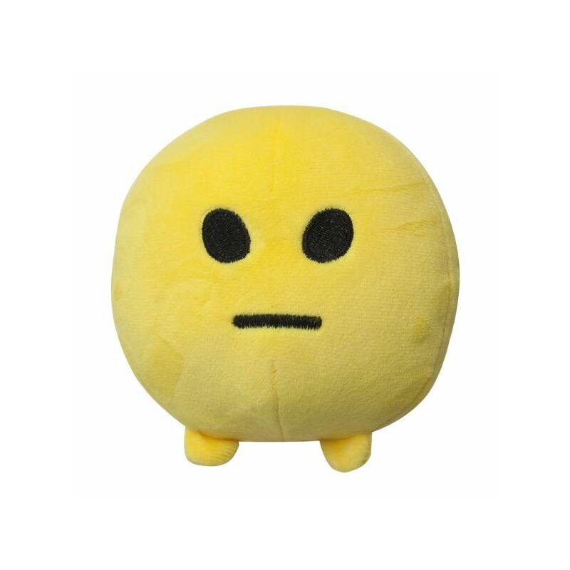Imoji plüss labda 11 cm - vonalszájú