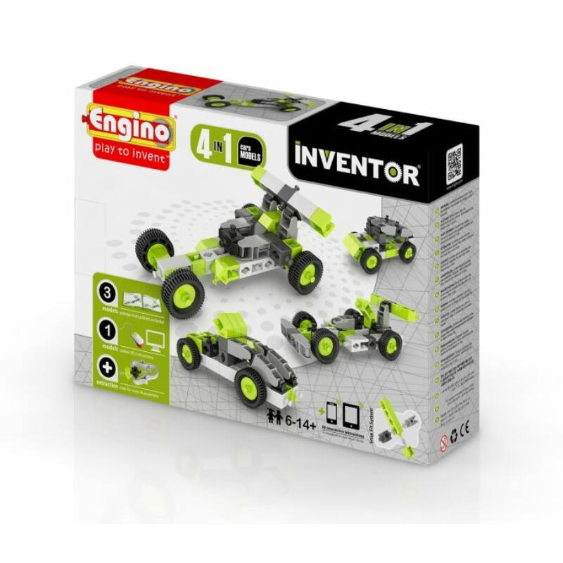 Engino Inventor 4 az 1-ben építőjáték - Autók