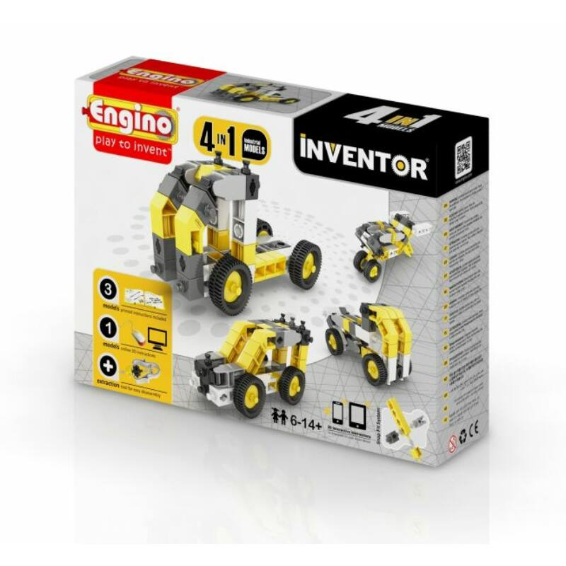 Engino Inventor 4 az 1-ben építőjáték - Ipari járművek