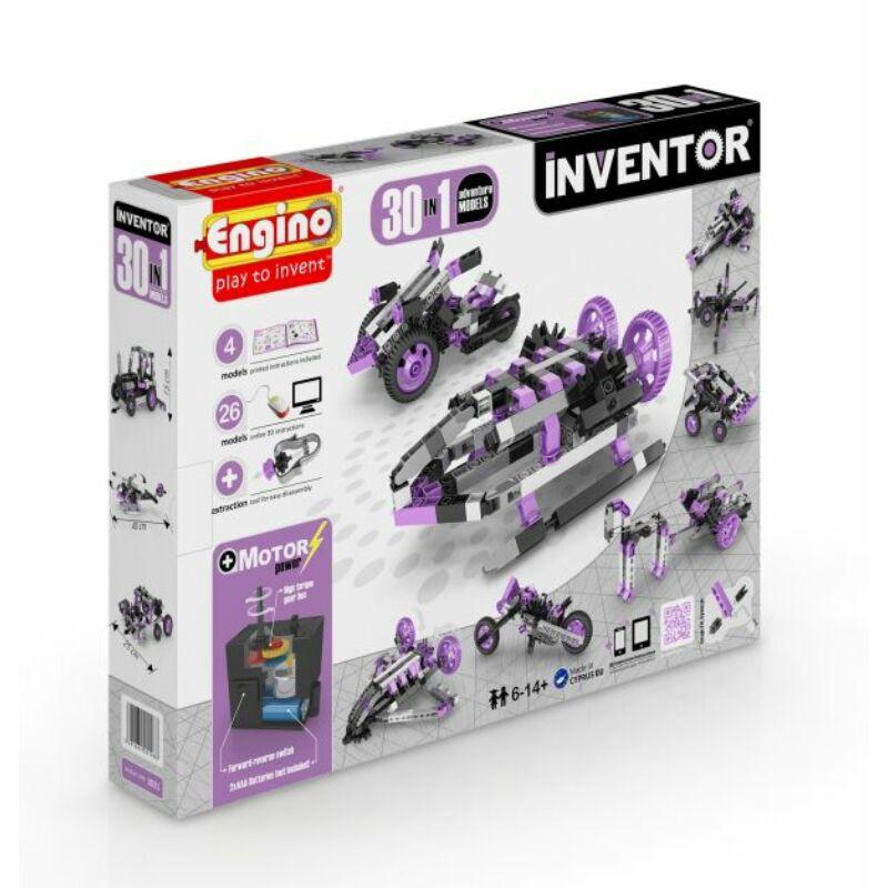 Engino Inventor 30 az 1-ben építőjáték - Motorizált kaland modellek