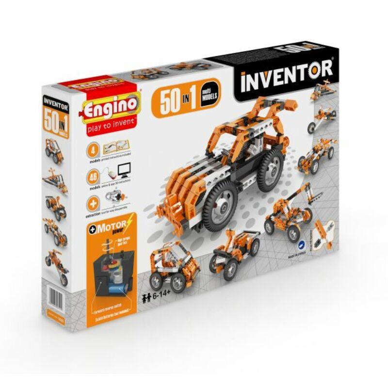 Engino Inventor 50 az 1-ben építőjáték - Motorizált multi modellek