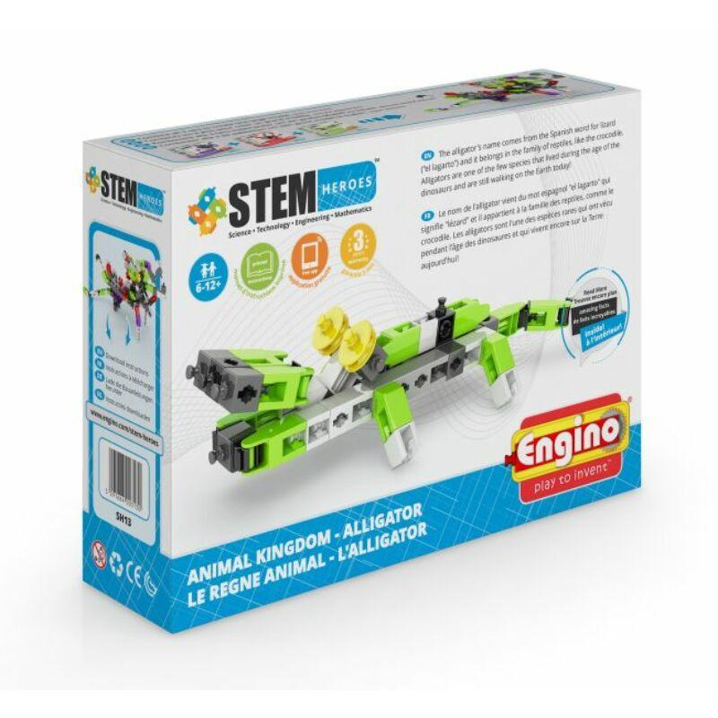 Engino Stem Heroes Állatvilág - Aligátor építőjáték