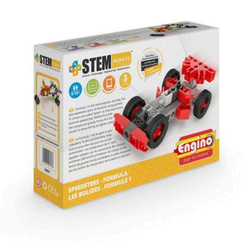Engino Stem Heroes Gyorshajtású járművek - Formula építőjáték