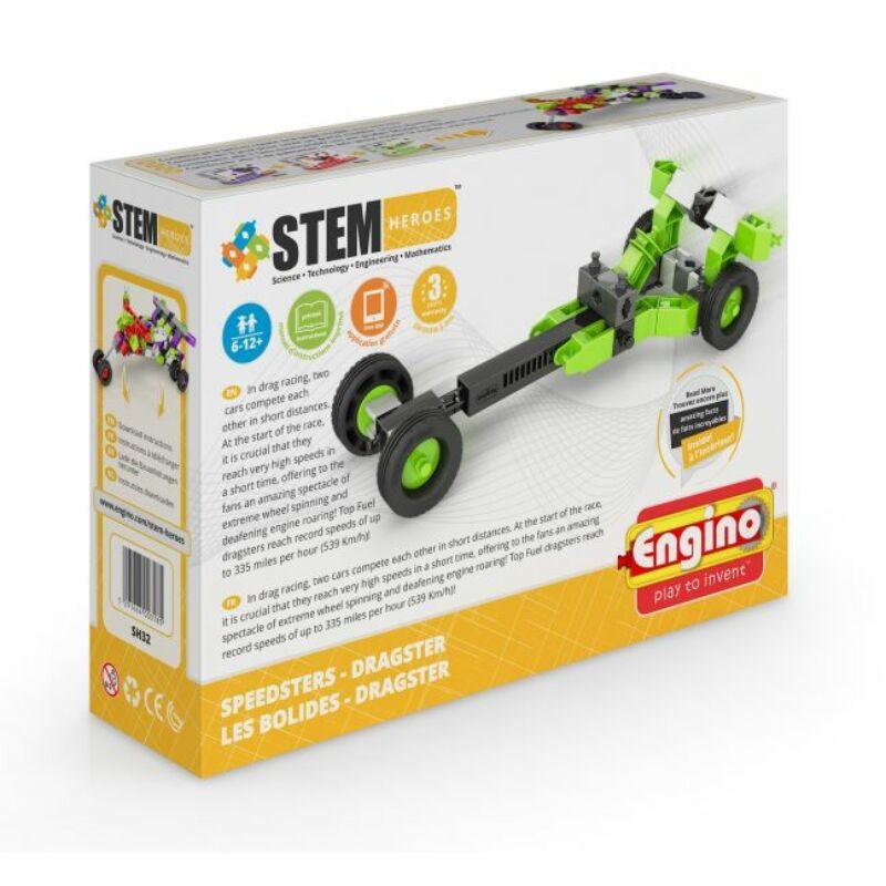 Engino Stem Heroes Gyorshajtású járművek - Dragster építőjáték