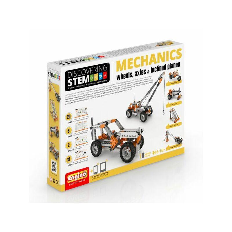 Engino Discovering Stem Mechanics építőjáték - Kerekek és tengelyek