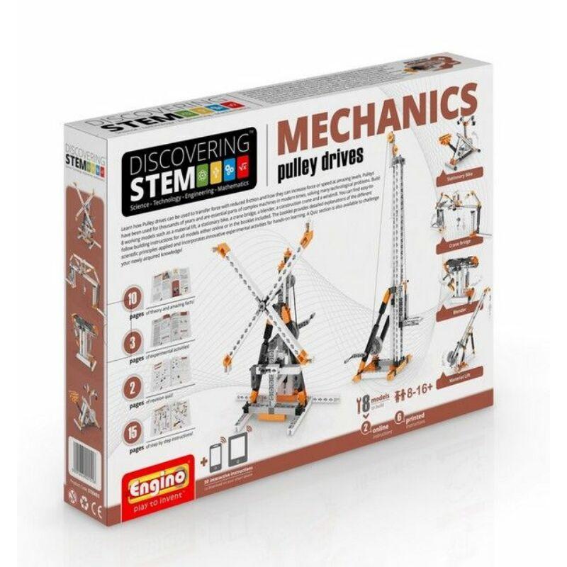 Engino Discovering Stem Mechanics építőjáték - Csiga meghajtások (3. szint)
