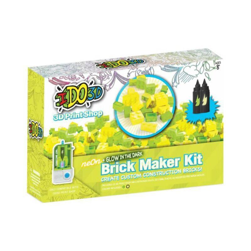 IDO3D - 3D Print Shop sablon 2 tintapatronnal - Neon Brick Maker