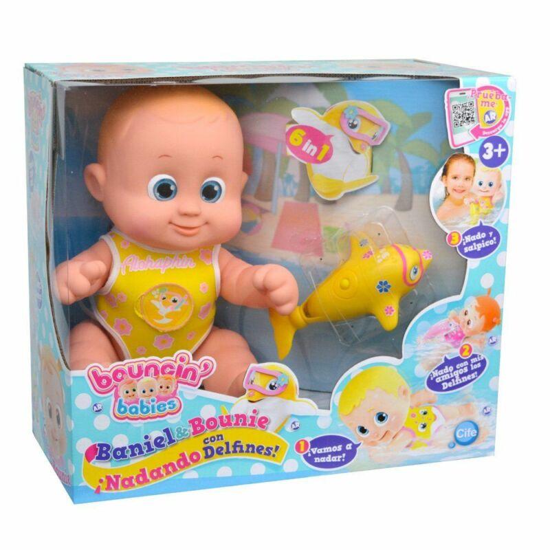 Bouncin' Babies - Delfinnel úszkáló baba - Baniel (fiú baba)