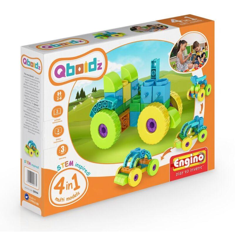 Engino Qboidz Traktor 4 az 1-ben építőjáték szett