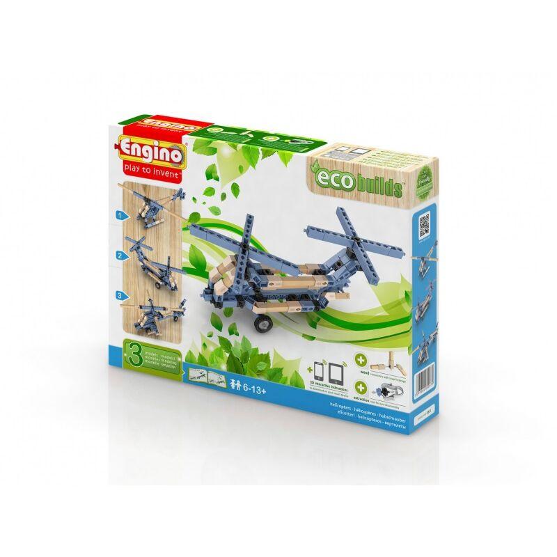 Engino Eco helikopterek építőjáték szett