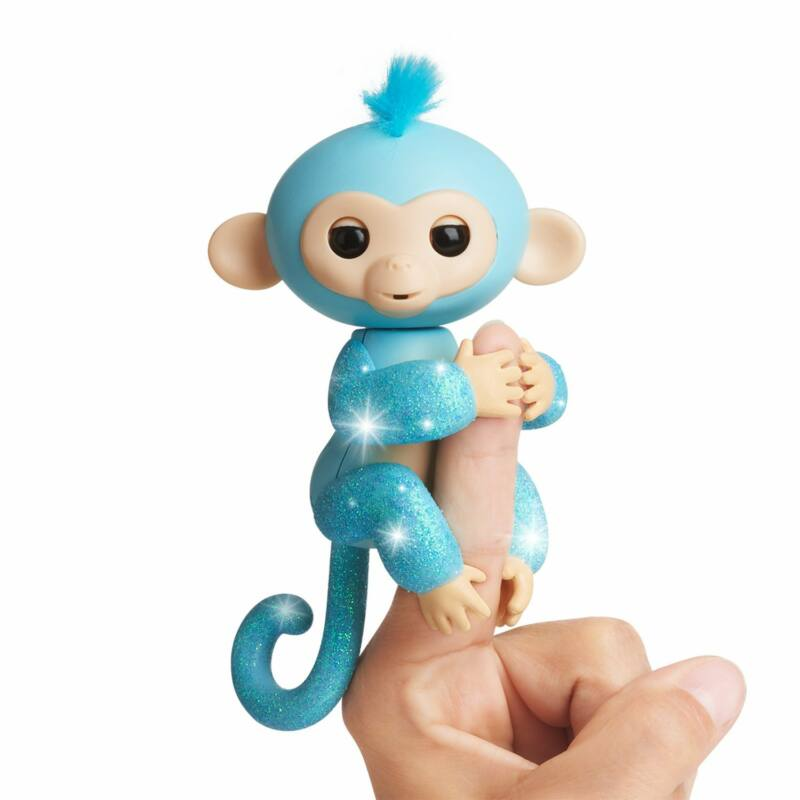 Fingerlings - ujj állatka - Amelia, csillogó kék majom