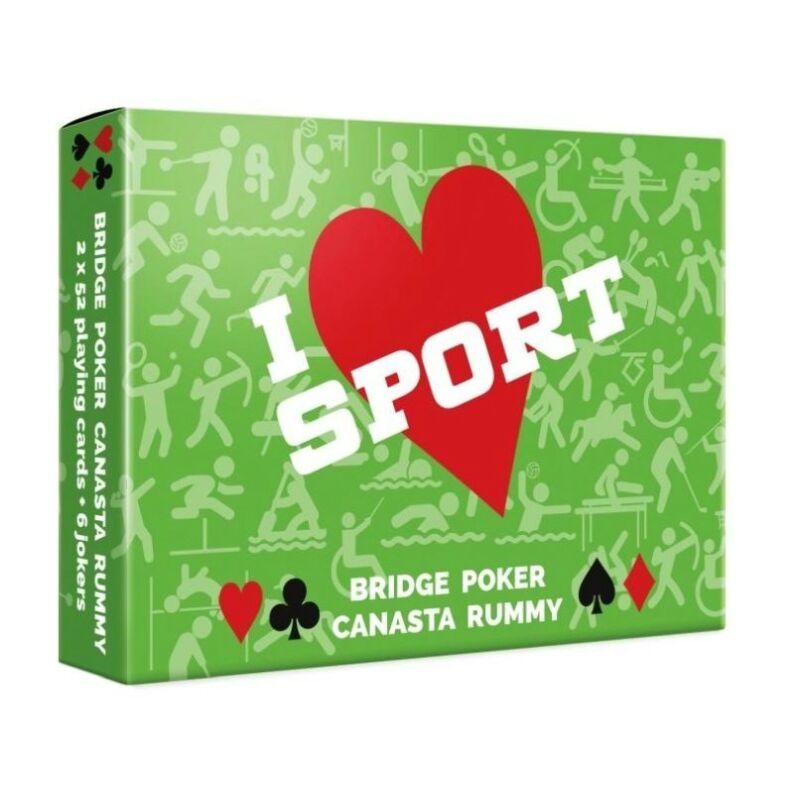 I Love Sport dupla römi kártya 2x55 lap