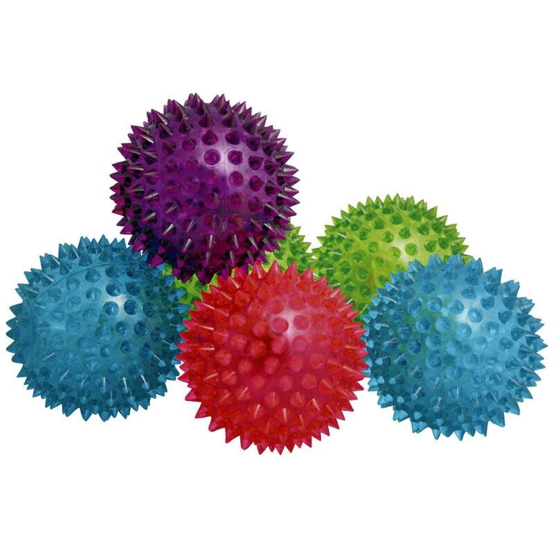 Villogó tüskés labda, 9 cm-es, többféle