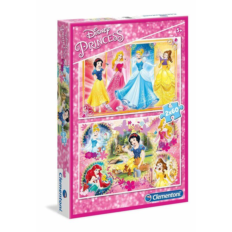Disney hercegnők 2 X 60-db-os puzzle - Clementoni