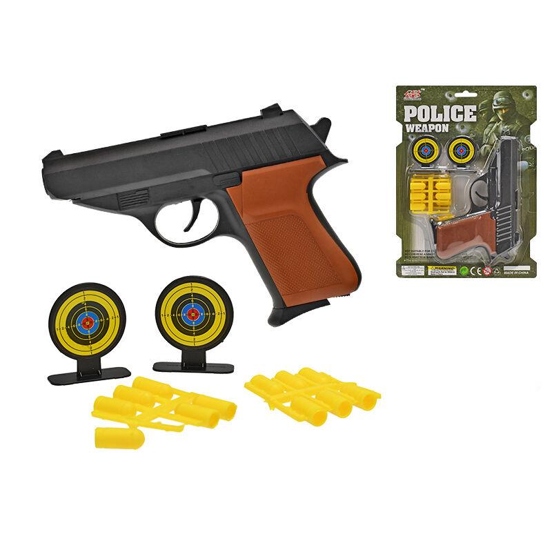 Rendőrségi játék pisztoly szett, célponttal