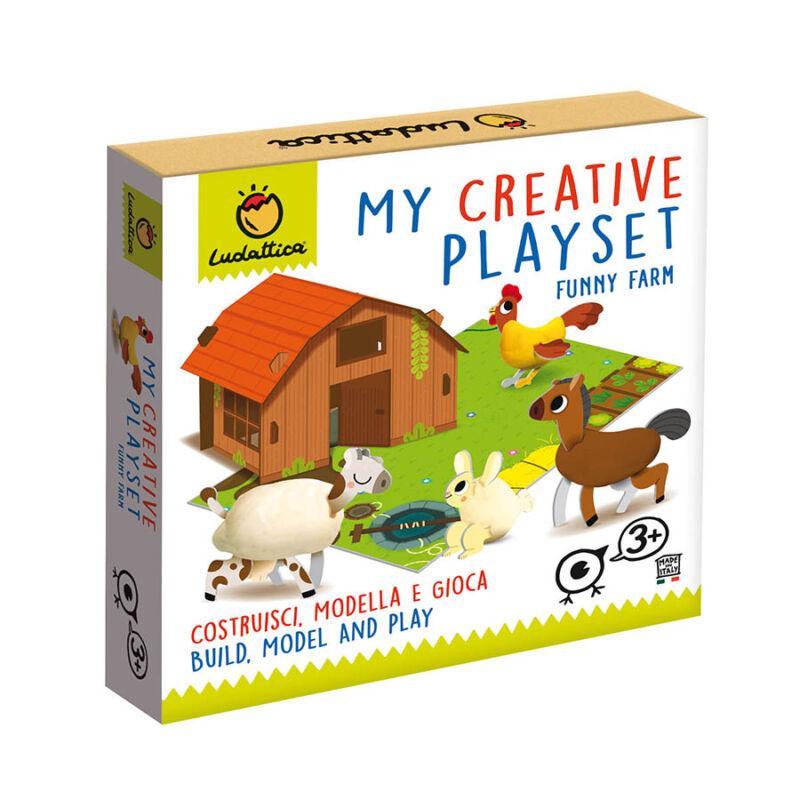 Kreatív játékszett - Bolondos farm - Ludattica