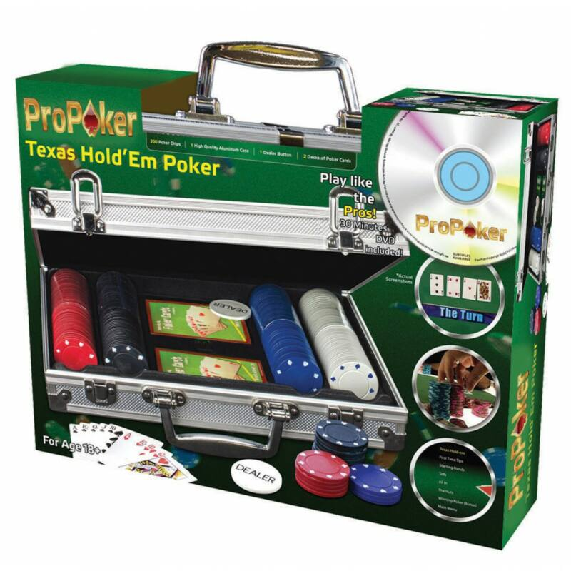 ProPoker Texas Hold'em póker szett 200 db-os oktató DVD-vel