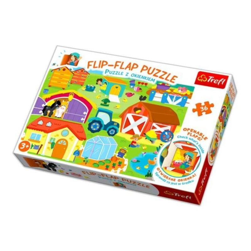 Farm 36 db-os Flip-Flap nyitogatós puzzle - Trefl