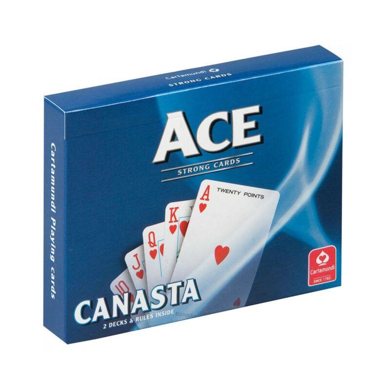 ACE kanaszta kártya 2x55 lap - erős kivitel