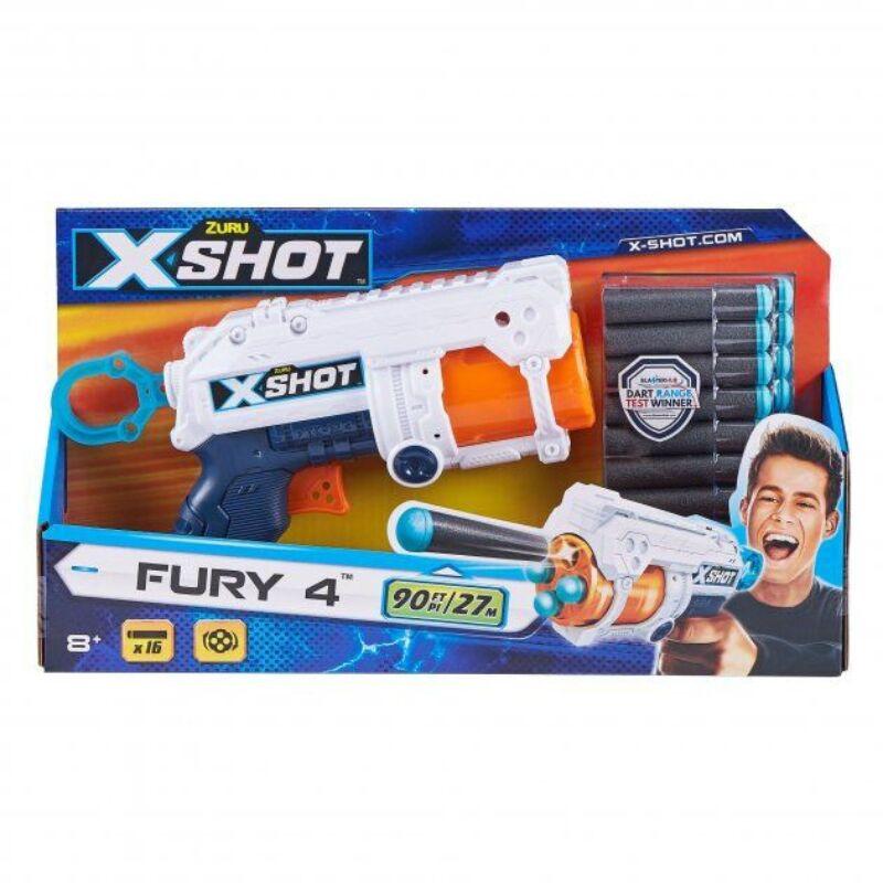 X-Shot Fury 4 lövetű szivacslövő pisztoly