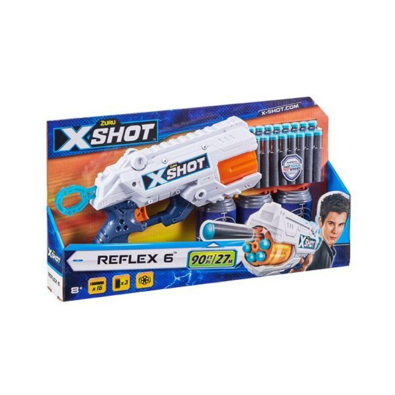 X-Shot Reflex 6 lövetű szivacslövő pisztoly célpont dobozzal