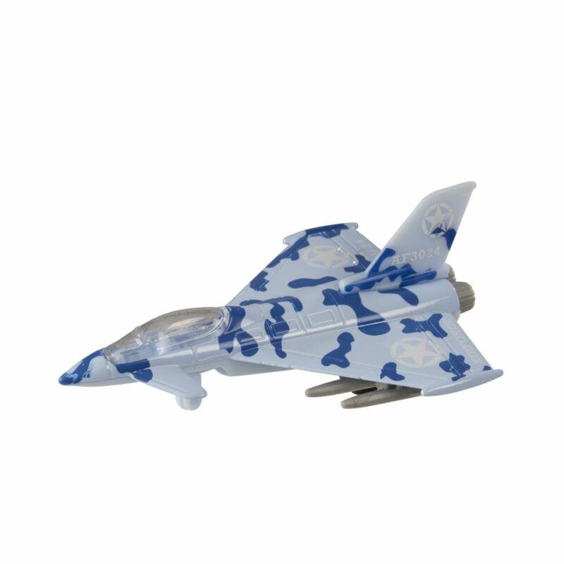 Fém vadászrepülőgép - Eurofighter 2000, kék/sötét kék