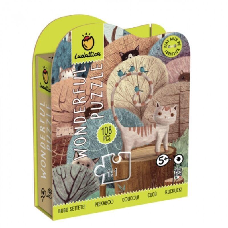Wonderful puzzle - Peek a boo 108 db-os puzzle - Ludattica