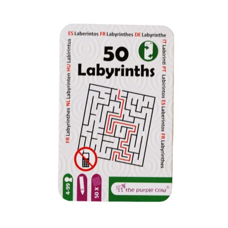 50 Labirintusok - foglalkoztató kártyák