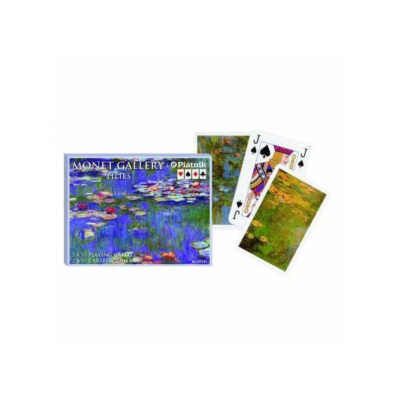 Monet - Lilies Luxus römi kártya 2x55 lap - Piatnik