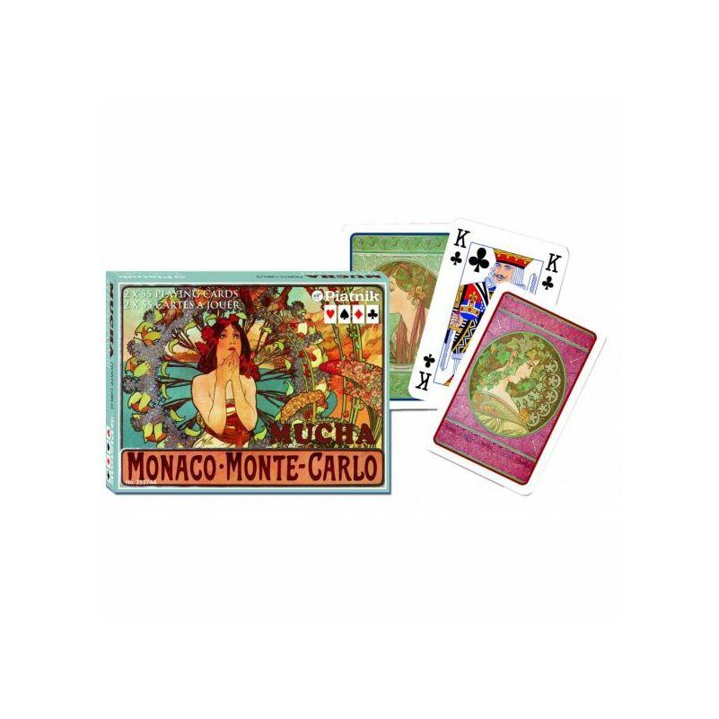 Mucha - Monaco, Monte Carlo Luxus römi kártya 2x55 lap - Piatnik