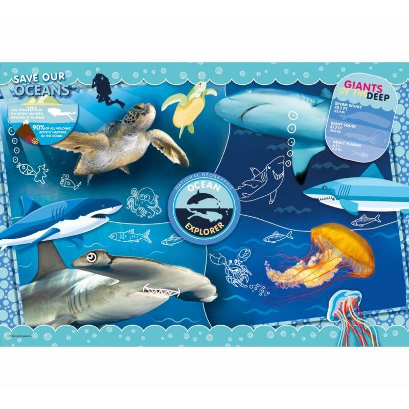 Óceánkutató 104 db-os puzzle - Clementoni National Geographic Kids