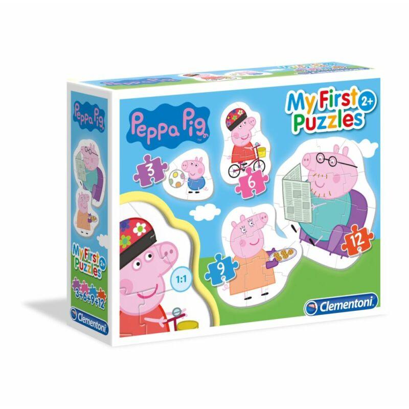 Peppa malac 3,6,9,12 db-os puzzle - Clementoni