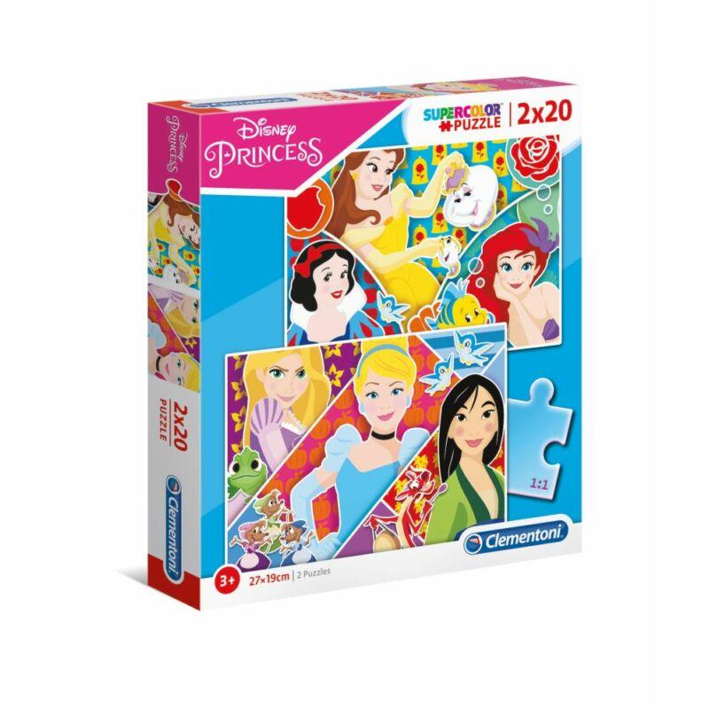 Disney Hercegnők 2x20 db-os puzzle - Clementoni