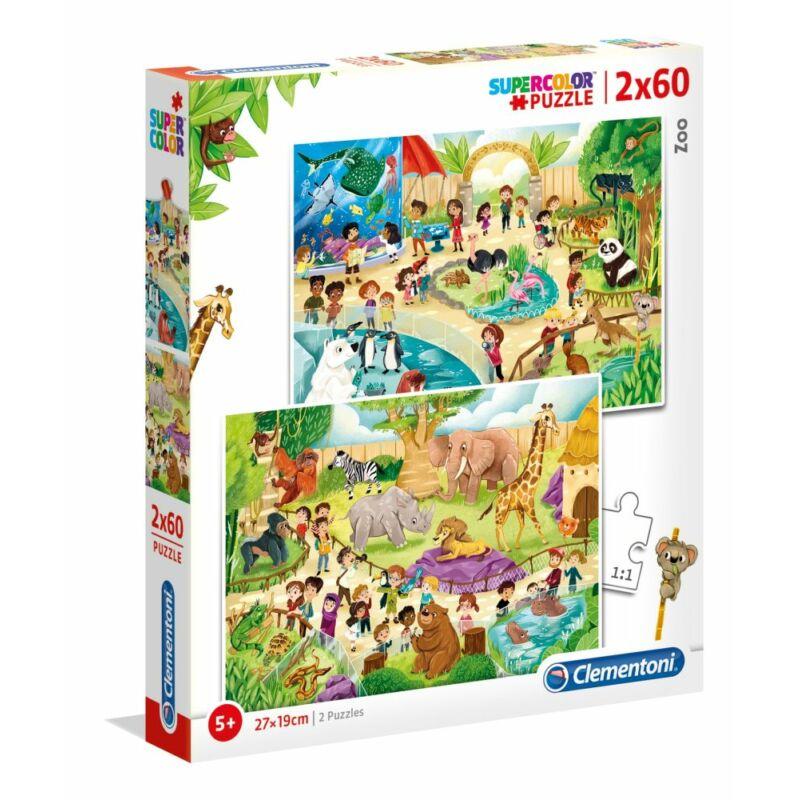 Állatkert 2x60 db-os puzzle - Clementoni